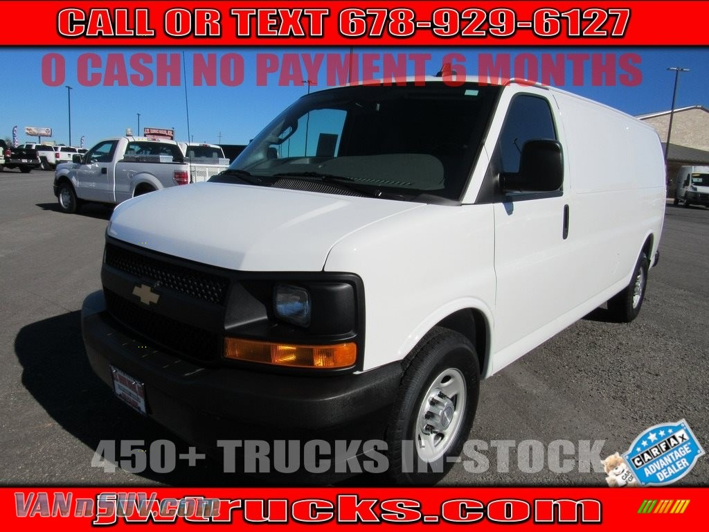 Summit White / Medium Pewter Chevrolet Express 2500 Cargo Extended WT