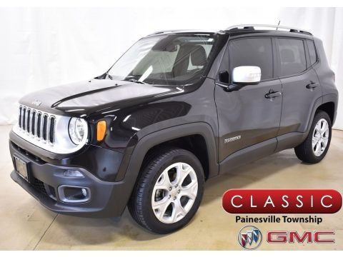 Black 2016 Jeep Renegade Limited 4x4