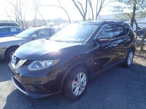 Super Black 2015 Nissan Rogue SV AWD