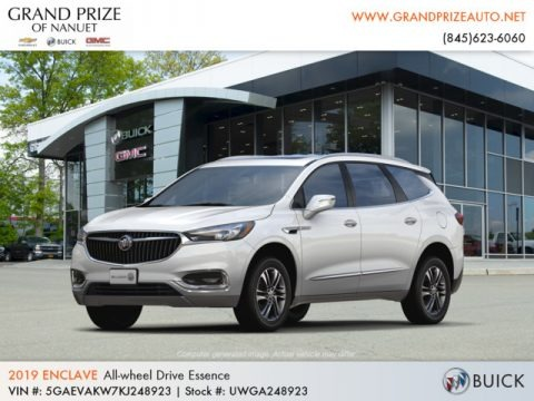 White Frost Tricoat 2019 Buick Enclave Essence AWD