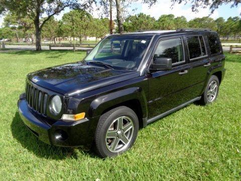 Brilliant Black Crystal Pearl 2008 Jeep Patriot Sport 4x4