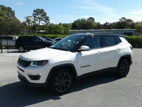 Pearl White Tri–Coat 2019 Jeep Compass High Altitude