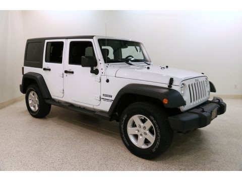 Bright White 2016 Jeep Wrangler Unlimited Sport 4x4