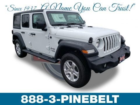 Bright White 2019 Jeep Wrangler Unlimited Sport 4x4