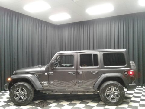 Granite Crystal Metallic 2019 Jeep Wrangler Unlimited Sport 4x4