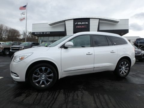 White Frost Tricoat 2016 Buick Enclave Leather AWD