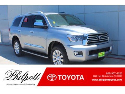 Silver Sky Metallic 2019 Toyota Sequoia Platinum 4x4