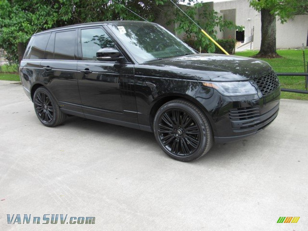2019 Range Rover Supercharged - Santorini Black Metallic / Ebony/Ebony photo #1