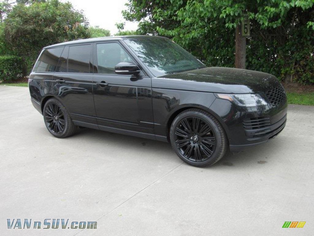 2019 Range Rover Supercharged - Santorini Black Metallic / Ebony/Ebony photo #1
