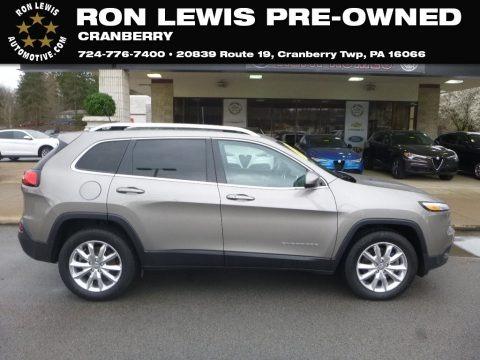 Light Brownstone Pearl 2016 Jeep Cherokee Limited 4x4