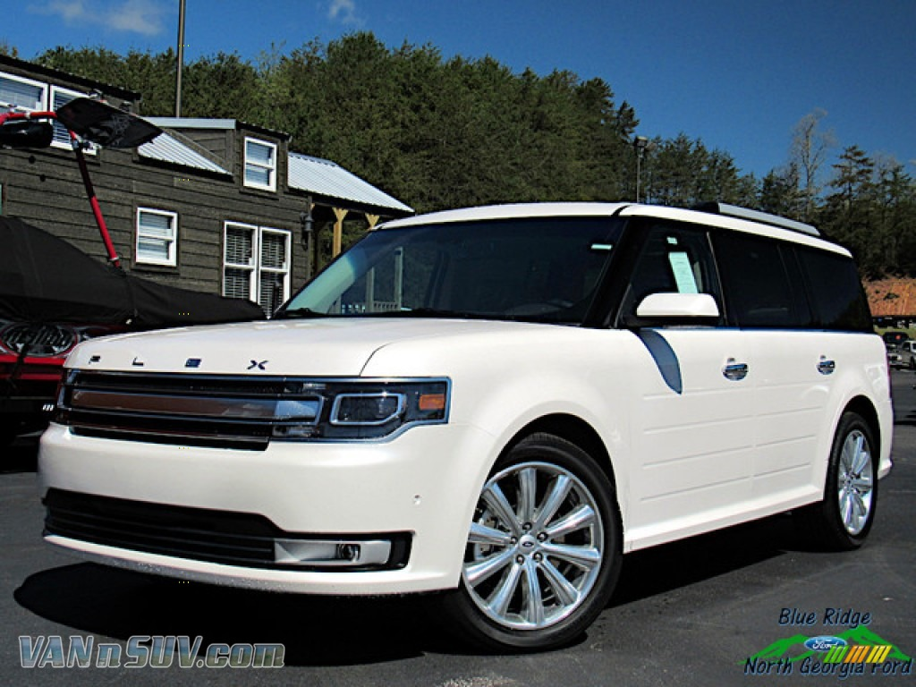 2019 Flex Limited AWD - White Platinum / Charcoal Black photo #1