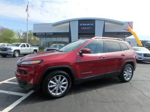 Deep Cherry Red Crystal Pearl 2016 Jeep Cherokee Limited 4x4