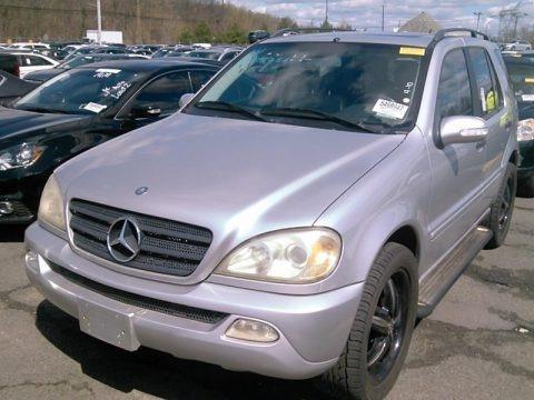 Brilliant Silver Metallic 2004 Mercedes-Benz ML 350 4Matic