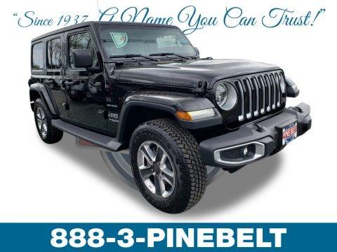 Black 2019 Jeep Wrangler Unlimited Sahara 4x4