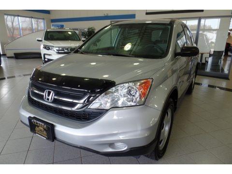 Alabaster Silver Metallic 2011 Honda CR-V LX