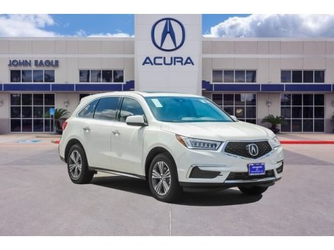 White Diamond Pearl 2019 Acura MDX AWD
