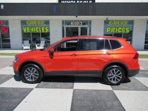 Habanero Orange Metallic 2019 Volkswagen Tiguan SE 4MOTION