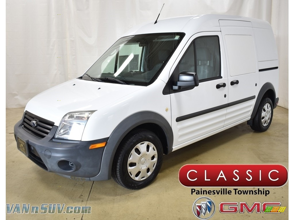 2013 Transit Connect XL Van - Frozen White / Dark Gray photo #1