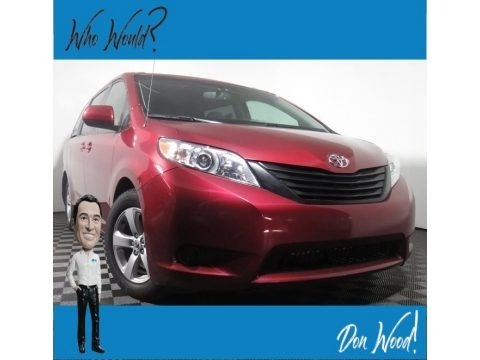 Salsa Red Pearl 2014 Toyota Sienna LE