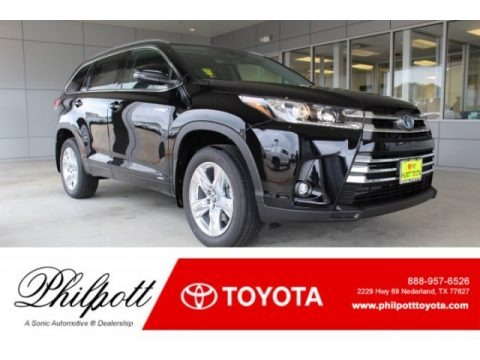 Midnight Black Metallic 2019 Toyota Highlander Hybrid Limited AWD