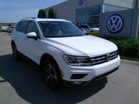 Pure White 2019 Volkswagen Tiguan SEL 4MOTION