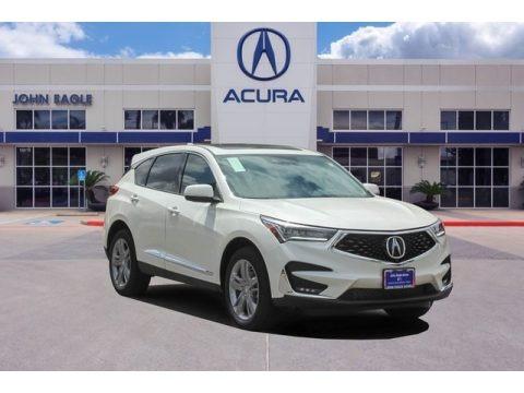 White Diamond Pearl 2019 Acura RDX Advance