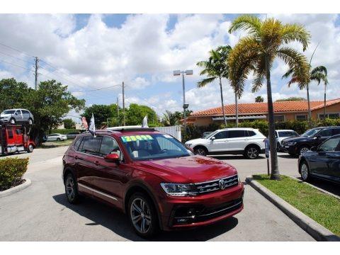 Cardinal Red Metallic 2019 Volkswagen Tiguan SEL R-Line