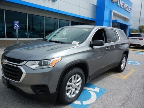Satin Steel Metallic 2019 Chevrolet Traverse LS AWD