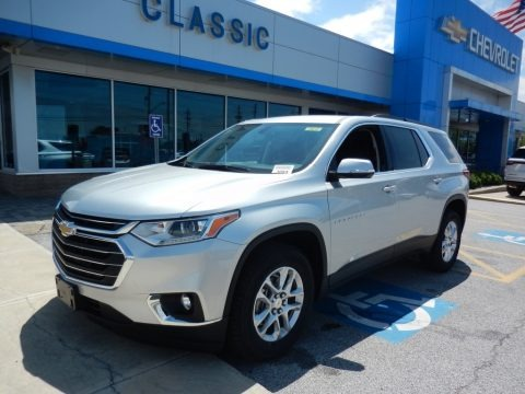 Silver Ice Metallic 2019 Chevrolet Traverse LT AWD