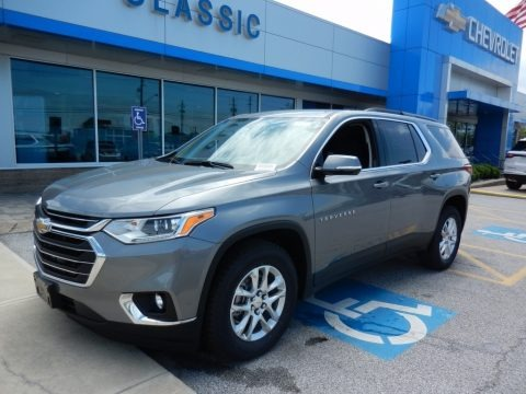 Satin Steel Metallic 2019 Chevrolet Traverse LT AWD