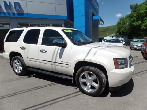 White Diamond Tricoat 2013 Chevrolet Tahoe LTZ 4x4