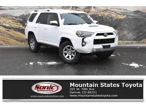 Super White 2015 Toyota 4Runner Trail Premium 4x4