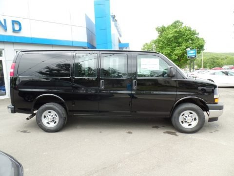 Black 2019 Chevrolet Express 3500 Cargo WT