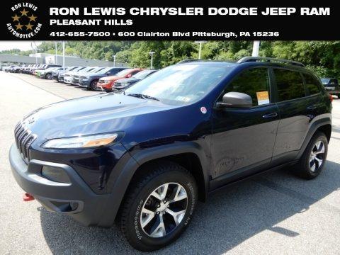 True Blue Pearl 2014 Jeep Cherokee Trailhawk 4x4