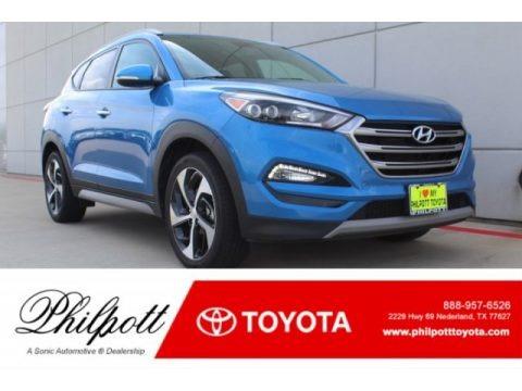 Caribbean Blue 2017 Hyundai Tucson Limited AWD