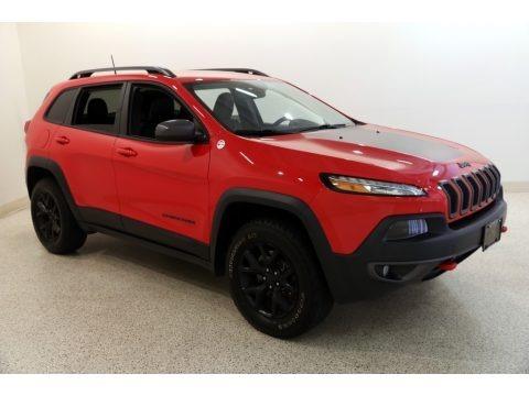 Firecracker Red 2017 Jeep Cherokee Trailhawk 4x4