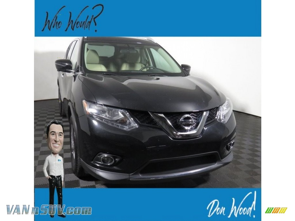 2016 Rogue SL - Magnetic Black / Charcoal photo #1