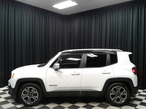 Alpine White 2015 Jeep Renegade Limited