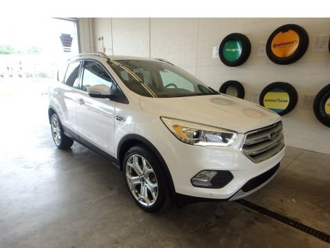 White Platinum 2019 Ford Escape Titanium 4WD
