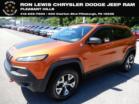 Mango Tango Pearl 2016 Jeep Cherokee Trailhawk 4x4