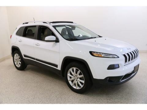 Bright White 2016 Jeep Cherokee Limited 4x4
