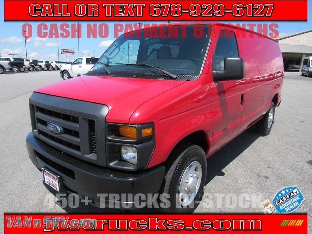 2013 E Series Van E250 Cargo - Vermillion Red / Medium Flint photo #1