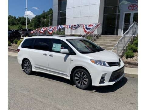 Super White 2020 Toyota Sienna Limited AWD