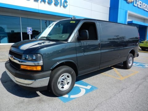 Shadow Gray Metallic 2019 Chevrolet Express 3500 Cargo Extended WT