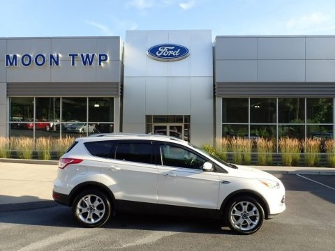 White Platinum Metallic 2016 Ford Escape Titanium 4WD