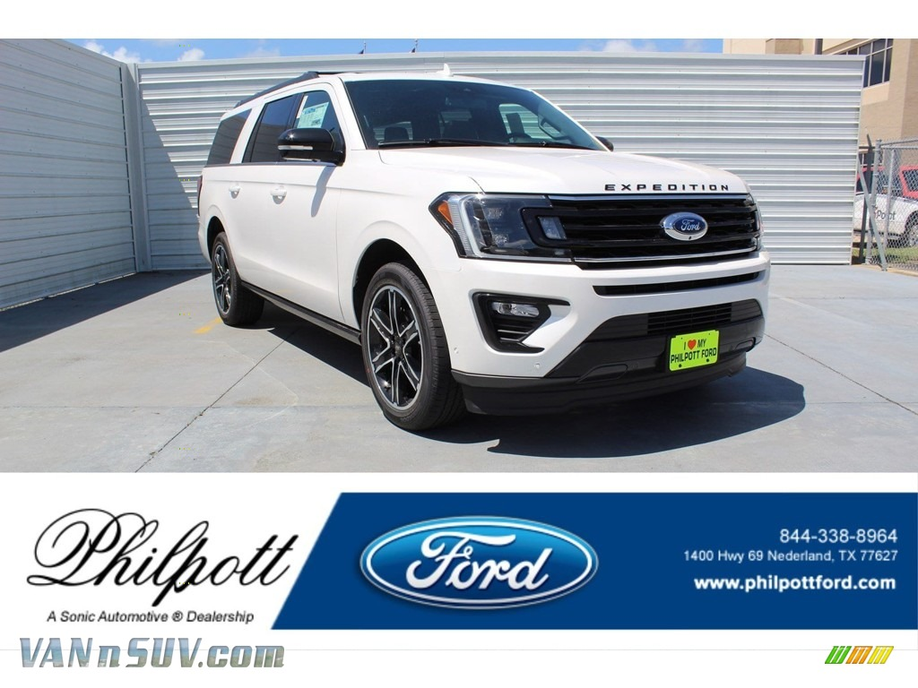 2019 Expedition Limited Max - White Platinum Metallic Tri-Coat / Ebony photo #1