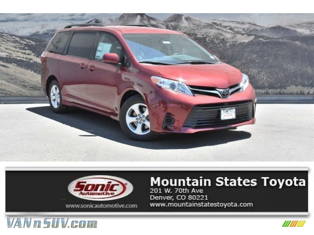 Salsa Red Pearl / Ash Toyota Sienna LE