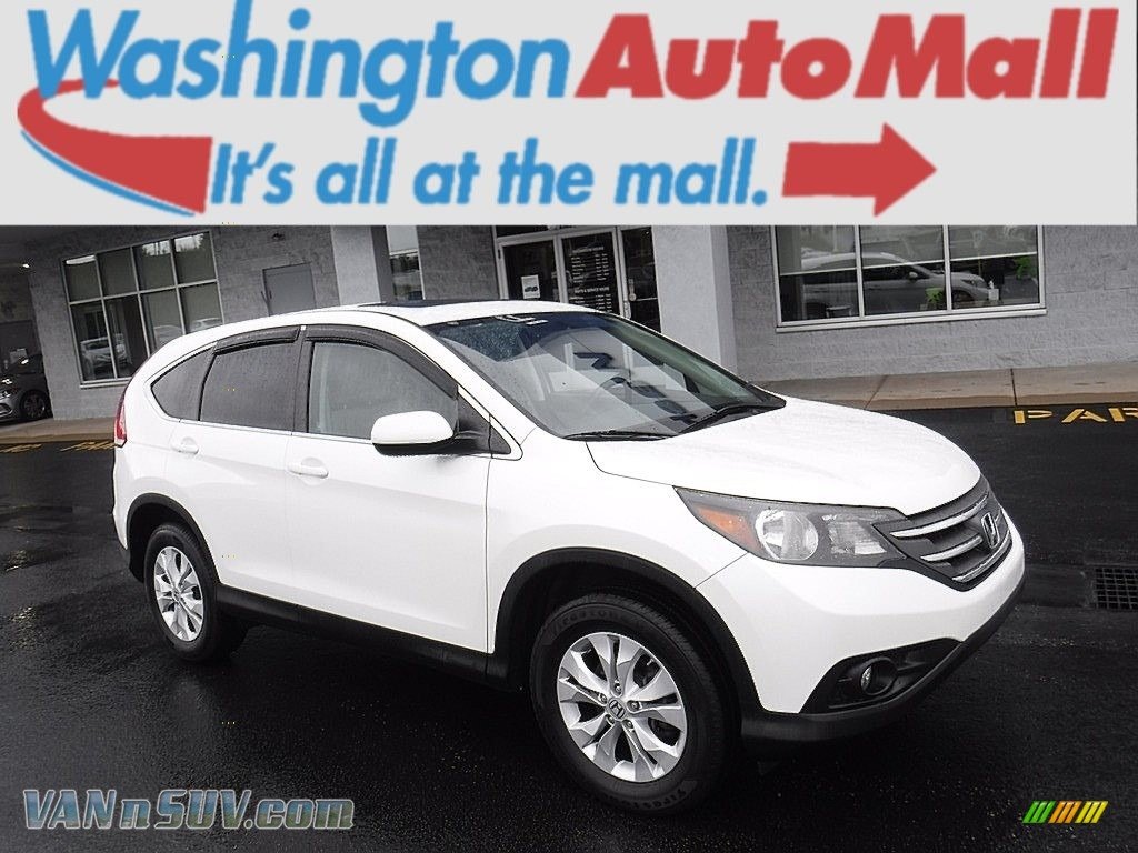 2012 CR-V EX 4WD - White Diamond Pearl / Gray photo #1