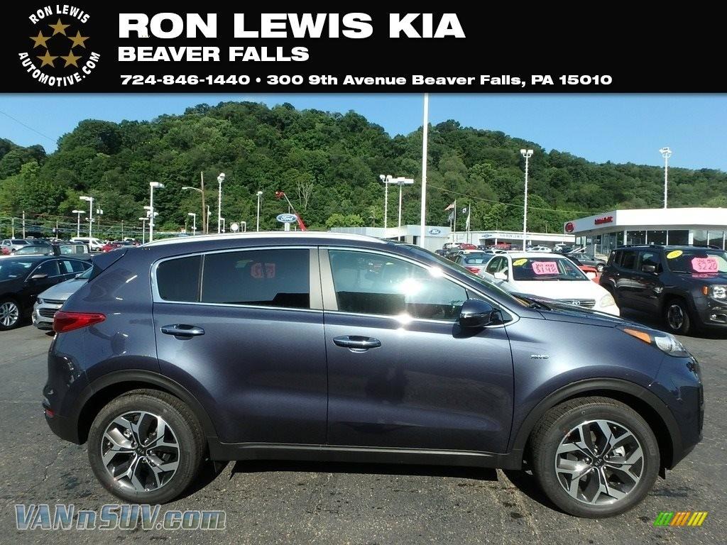 2020 Sportage EX AWD - Pacific Blue / Black photo #1
