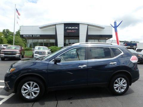 Arctic Blue Metallic 2015 Nissan Rogue SV AWD